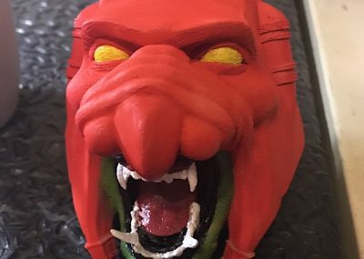 battle cat head painted